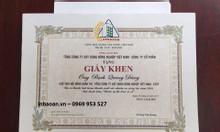 In giấy khen, phôi giấy khen giá rẻ tại Hà Nội