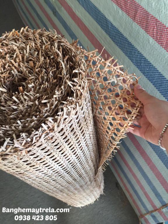 Lưới mây tự nhiên đan mắt cáo, lưới mây tre đan