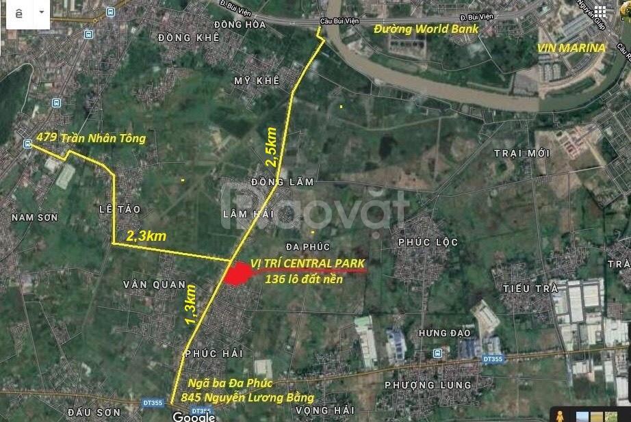 Lô góc 2 mặt tiền thích hợp xây biệt thự cách thành phố 4km