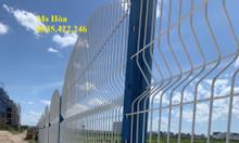 Hàng rào đẹp, hàng rào lưới thép, hàng rào chấn sóng D5 a50x200