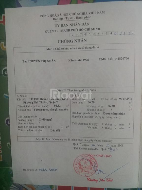 Cần bán nhà nát cấp 4 gấp trong tháng giá rẻ 3tỷ5 hẻm xe hơi Huỳnh Tấn