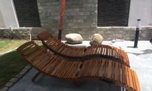 Ghế tắm nắng gỗ ngoài trời hình chữ S