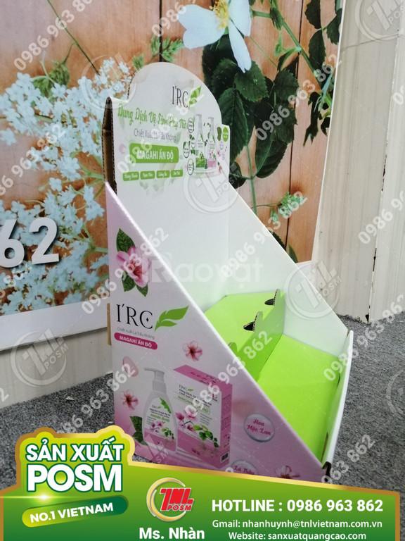 Kệ giấy lắp ráp trưng bày quảng cáo sản phẩm.