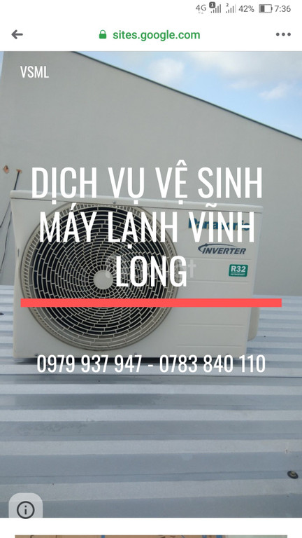 Dịch vụ vệ sinh máy lạnh Vĩnh Long