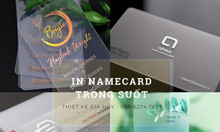 In namecard trong suốt đẹp TP HCM