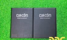 Xưởng sản xuất bìa menu, làm bìa menu giá rẻ, đặt may bìa menu da, cơ