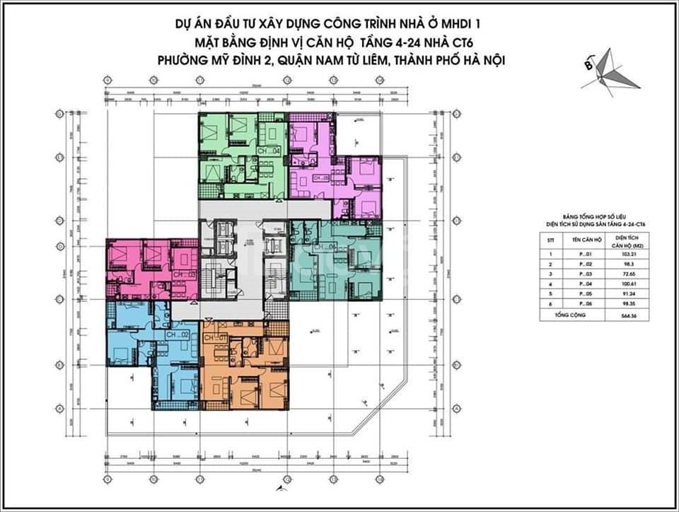 Bán nhà chung cư CT6 Lê Đức Thọ 3 PN 100m2 3,018 tỷ view đường đua F1