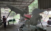 Mô hình tượng rồng lửa composite