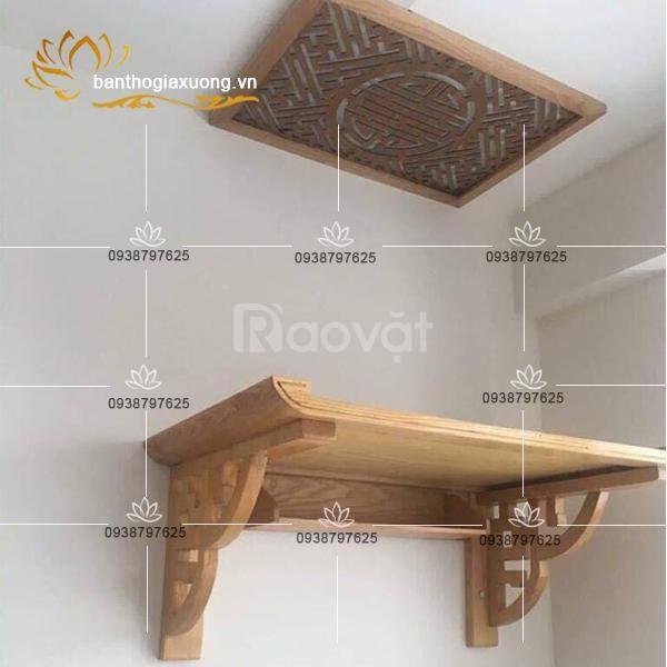 Thiết kế mẫu bàn thờ treo tường đẹp cho căn hộ giá tốt