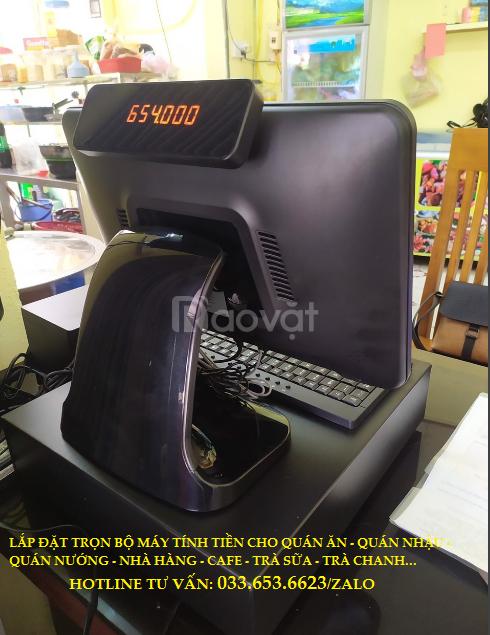 Bán máy tính tiền Pos cho quán trà sữa, cafe, trà chanh