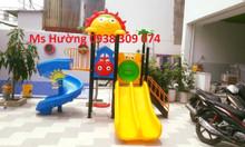 Bộ cầu trượt liên hoàn cho trường mầm non, khu vui chơi