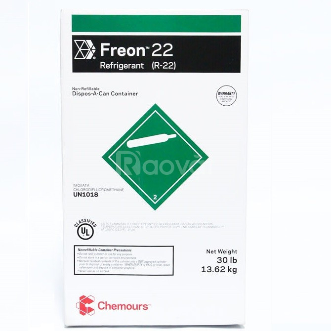 Gas R22 Chemours Freon 13,6 Kg - Gas lạnh Chemours Freon