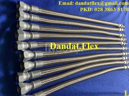 Khớp nối mềm inox lắp ren inox 304, inox 316, Khớp nối mềm inox