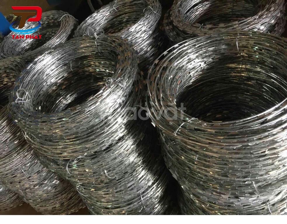 Dây thép gai bọc nhựa, dây thép gai mạ kẽm giá rẻ tại Bình Tân