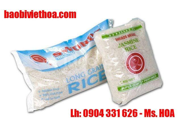 Bao đựng gạo, 5kg, 10kg, in flexo giá rẻ