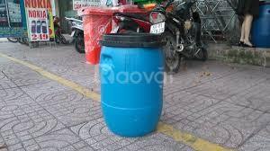 Thùng phuy nhựa 50 lít đựng hóa chất, phuy nhựa đựng dung dịch