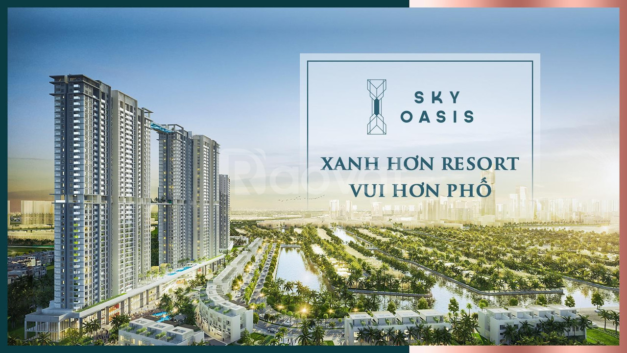 Căn 2 phòng ngủ chung cư cao cấp Sky Oasis, từ 2.08 tỷ