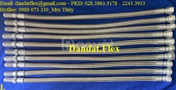 Khớp nối mềm inox kết nối ren, khớp nối inox