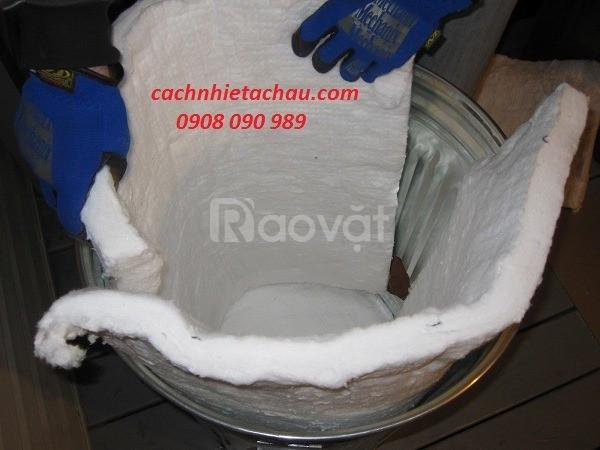 Tấm bông Ceramic ép cứng dùng tốt cho cách nhiệt cao