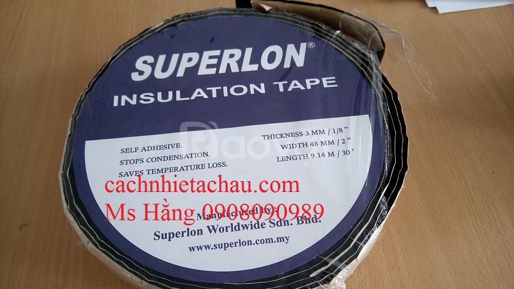 Băng keo Roan cao su Superlon dán mối nối ống bảo ôn Superlon