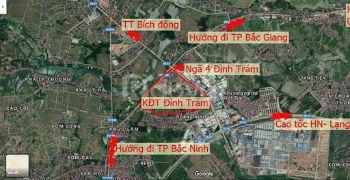 Đất tại Đình Trám -  Việt Yên  -Bắc Giang, đất công nghiệp 720