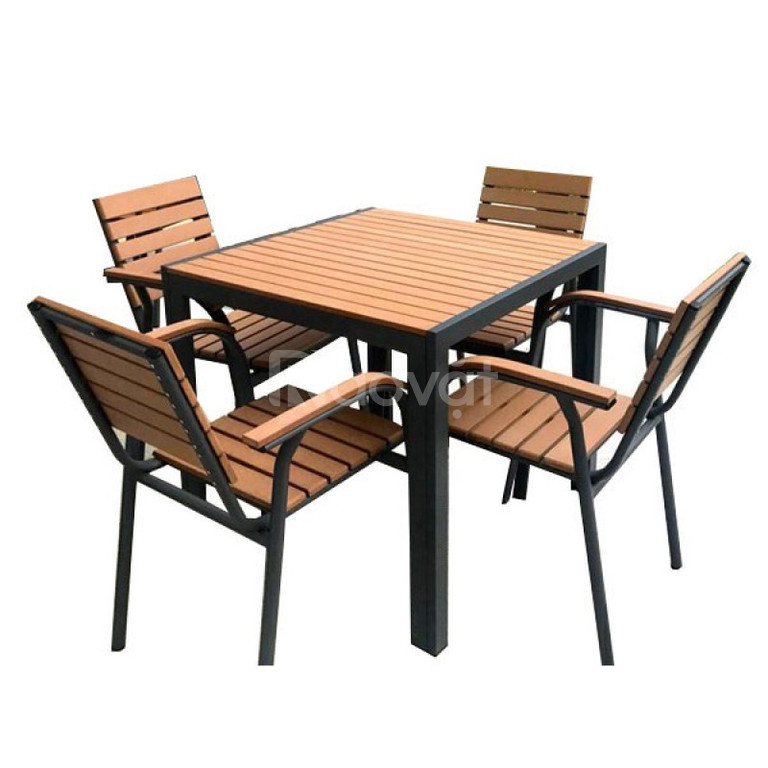 Bộ bàn ghế Composite giả gỗ