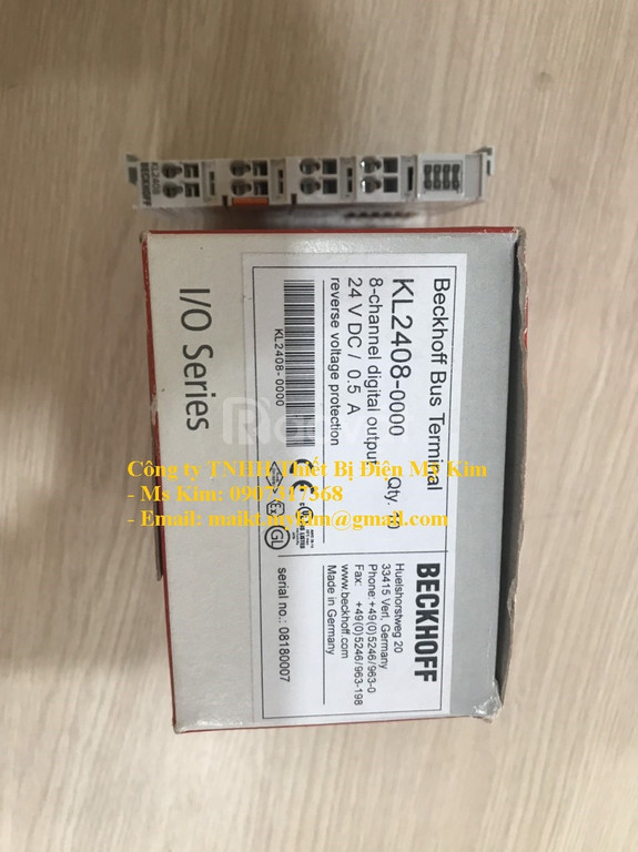 Mô đun KL2408   8-channel digital output terminal 24 V DC - Beckhoff
