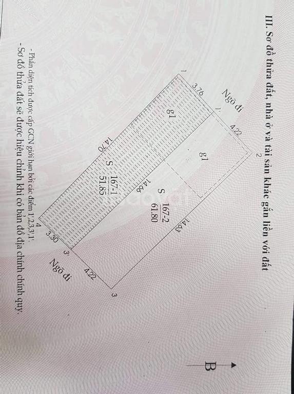 Bán nhà Thịnh Quang 5.2 tỷ, 62m2, 5T, ba gác tránh
