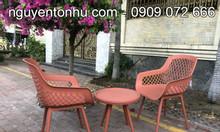 Bộ bàn ghế nhựa cao cấp màu đỏ