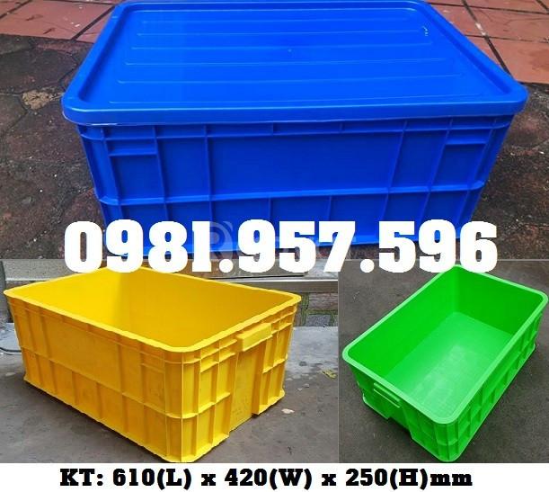 Thùng nhựa 2T5, sóng nhựa bít 2T5, sóng nhựa đặc Hs017