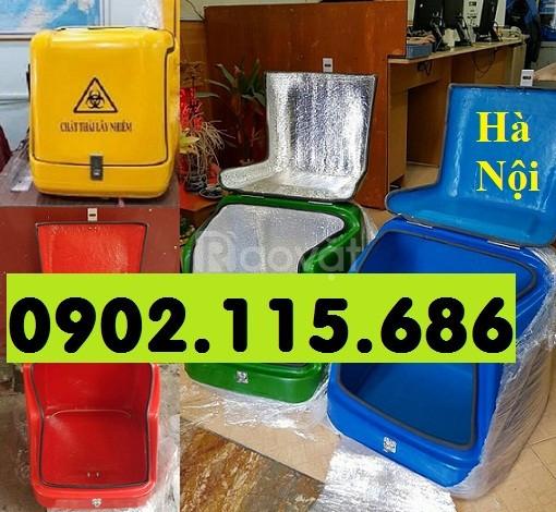 Thùng chở rác y tế loại nhỏ, thùng vận chuyển rác y tế loại nhỏ, thùng