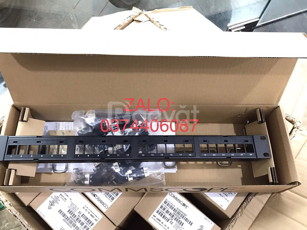 Patch panel 24 cổng cat6 UTP,1U mã 760237040 | 9-1375055