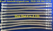 Khớp nối mềm inox kết nối ren chịu nhiệt cao, Ống nối mềm bọc lưới 304