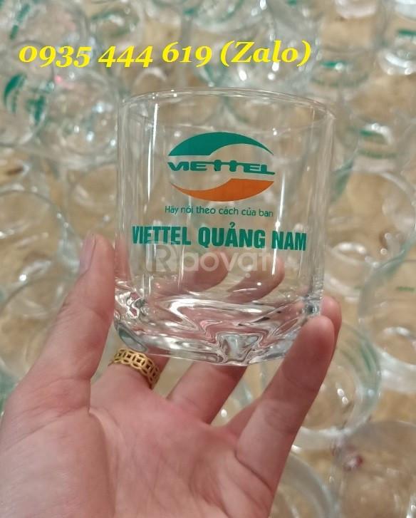 In logo lên ly thủy tinh các loại làm quà tặng tại Quảng Nam