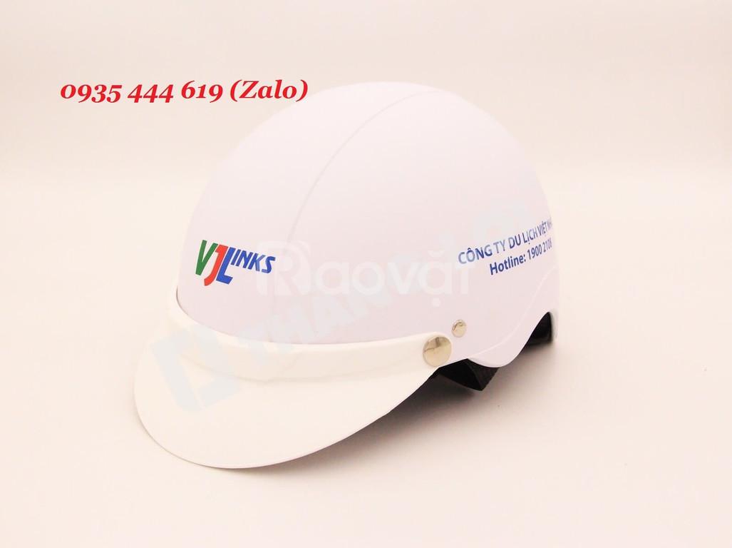 Công ty cung cấp mũ bảo hiểm in logo quảng cáo tại Quảng Nam