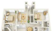 Bán căn hộ thương mại khu vực Hòa Khánh giá 820 triệu gồm 2PN + 2WC