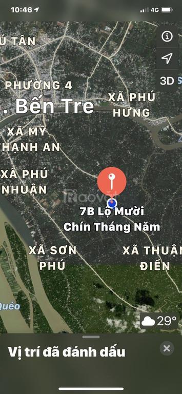 Chính chủ cần bán lô đất mặt tiền đường 19/5 Xã Nhơn Thạnh, Tp Bến Tre