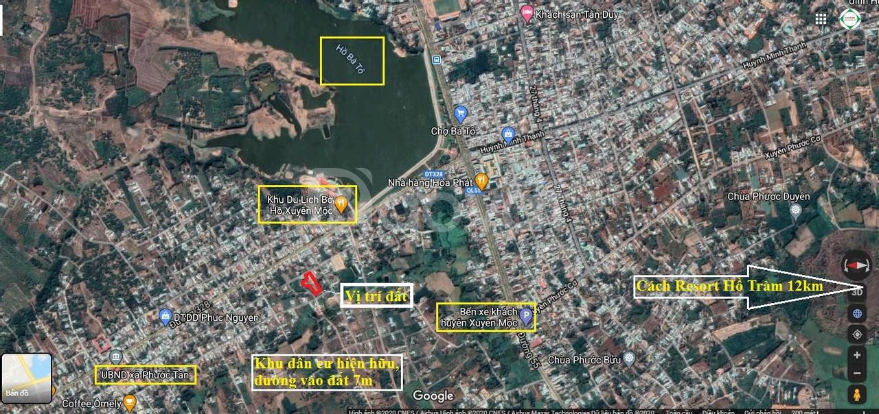 Lô đất đường ôtô 3650m2 có 300m2 thổ chỉ 1,96tr/m2 Xuyên Mộc Bà rịa VT