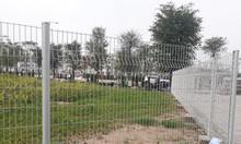 Hàng rào cột trái đào, hàng rào lưới thép sơn tĩnh điện