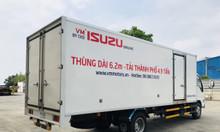 Xe tải isuzu thùng dài chở hàng nhẹ vào thành phố