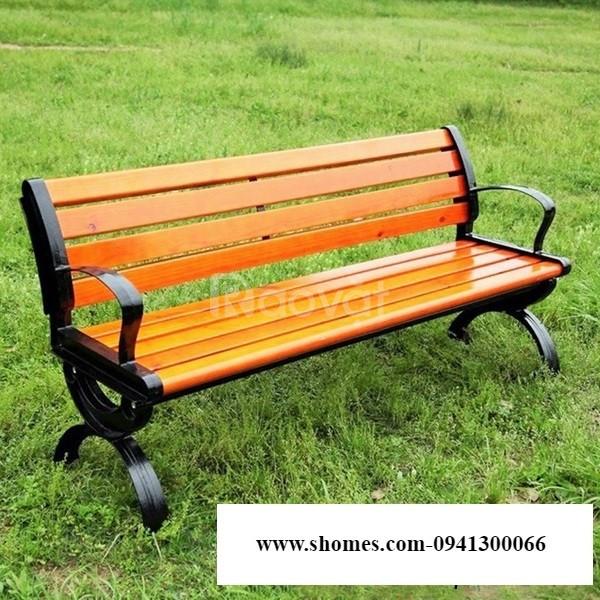 Ghế công viên nan gỗ thông chille