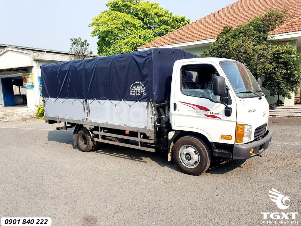 Hyundai N250SL thùng bạt, trả trước 20% nhận xe