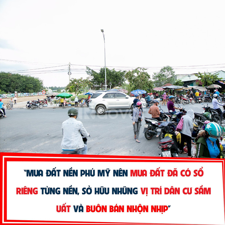 Bán đất Phú Mỹ, đường Mỹ Xuân, Ngãi Giao, đã có sổ từng nền