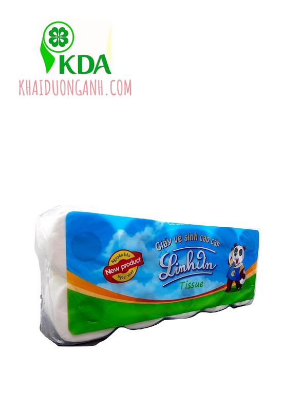 Giấy vệ sinh cuộn nhỏ cao cấp Linh An, giấy vệ sinh giá sỉ Đồng Tháp