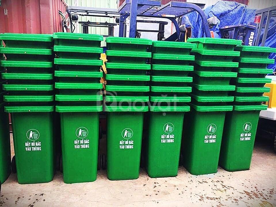 Cung cấp thùng rác giá rẻ 120 lít nắp kín