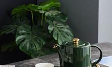 Bộ ấm trà cao cấp 2 màu quý phái