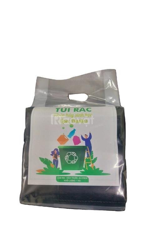 Túi đựng rác cuộn tự hủy, bao rác phân hủy sinh học giá rẻ Trà Vinh