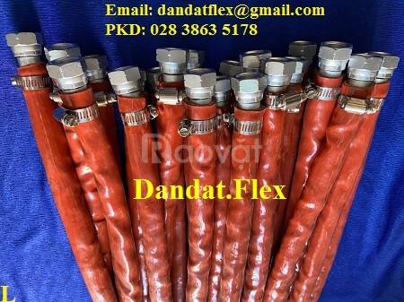 Báo giá khớp nối mềm inox lắp ren bọc PJ chống cháy, khớp nối mềm 304
