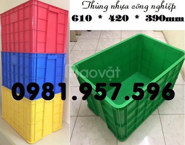 Sóng nhựa lớn, thùng nhựa lớn có nắp, thùng công nghiệp