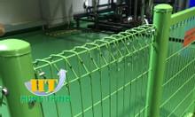 Hàg rào lưới thép hàn mạ kẽm sơn tĩnh điện D5 50x200